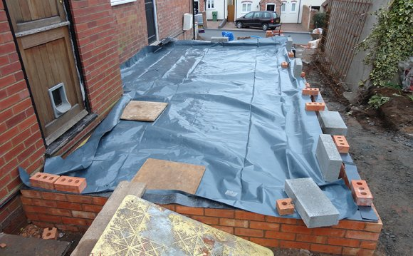 The damp proof membrane on the