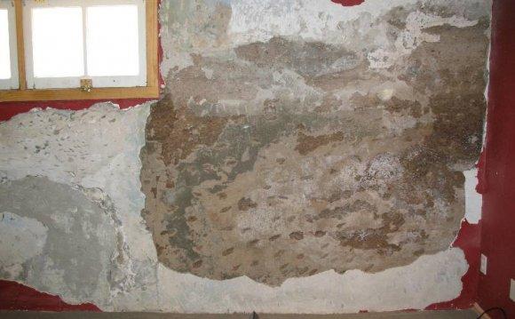Cement For Basement Walls Arid, Crumbling Plaster Basement Walls