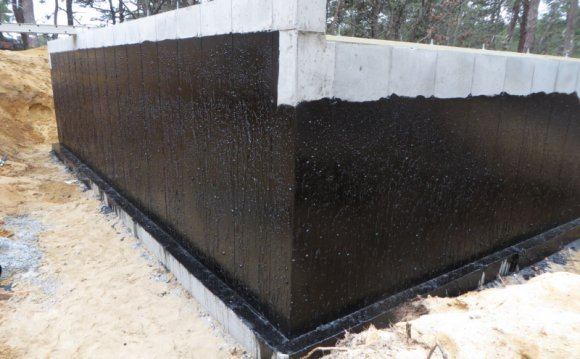 Basement walls waterproofing membrane