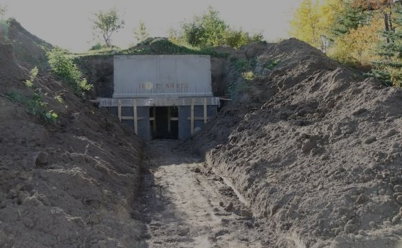 Building a root cellar into a hill