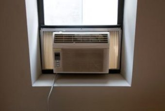 Clean every surface of an air conditioner to eliminate black mold.