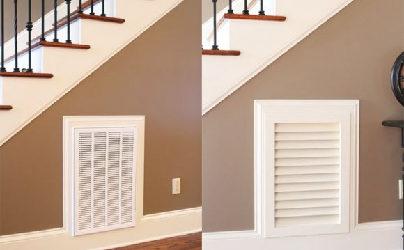Decorative wall air return vent covers