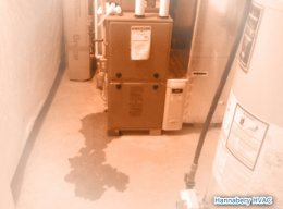 furnace leak, condensate leak, water at indoor unit