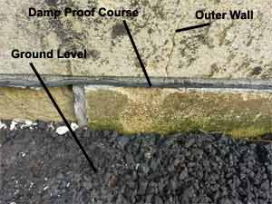 Good Example of Clear Damp Proof Course