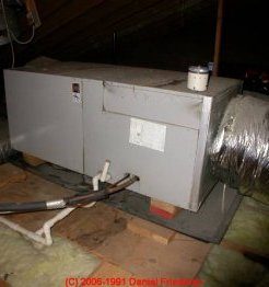 Photograph of attic air conditioning