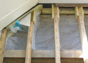 preparing to lay underfloor insulation