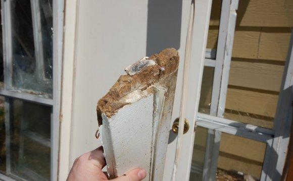 Water damage door frame