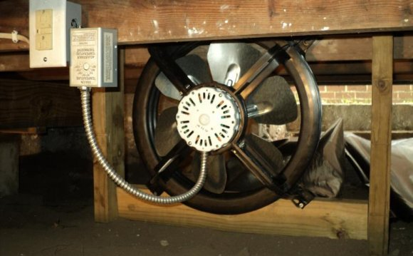 Crawl space fan installation