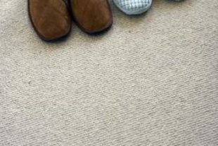 The carpet's hidden padding plays a large role in insulating a room.