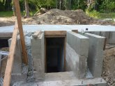 Concrete root cellar