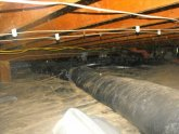Ductwork in crawl space